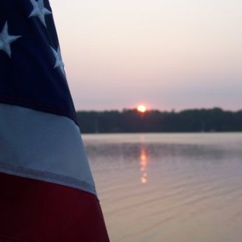 Patriotic sunset (Virginia).