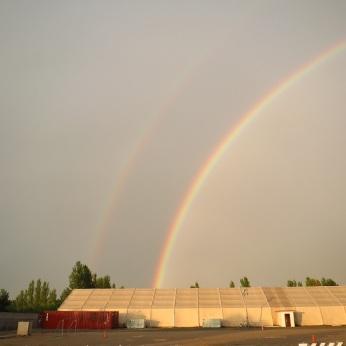Double rainbow (Kyrgyzstan).